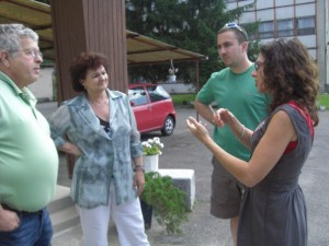 MICHELE MEETING HUNGARIAN ORPHANAGE DIRECTOR